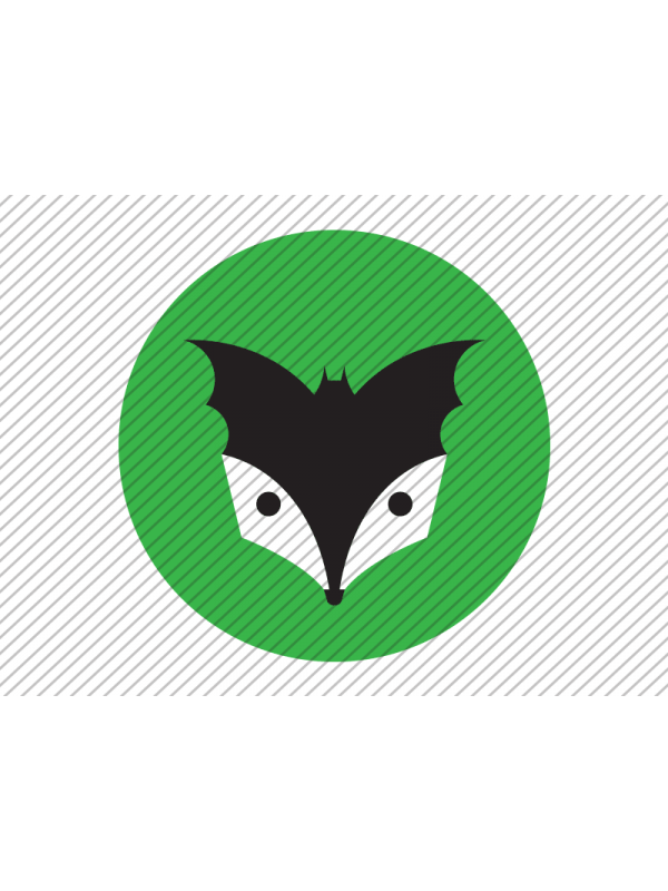 Predesigned Bat and Badger logo by Aga Grandowicz. Icon only.