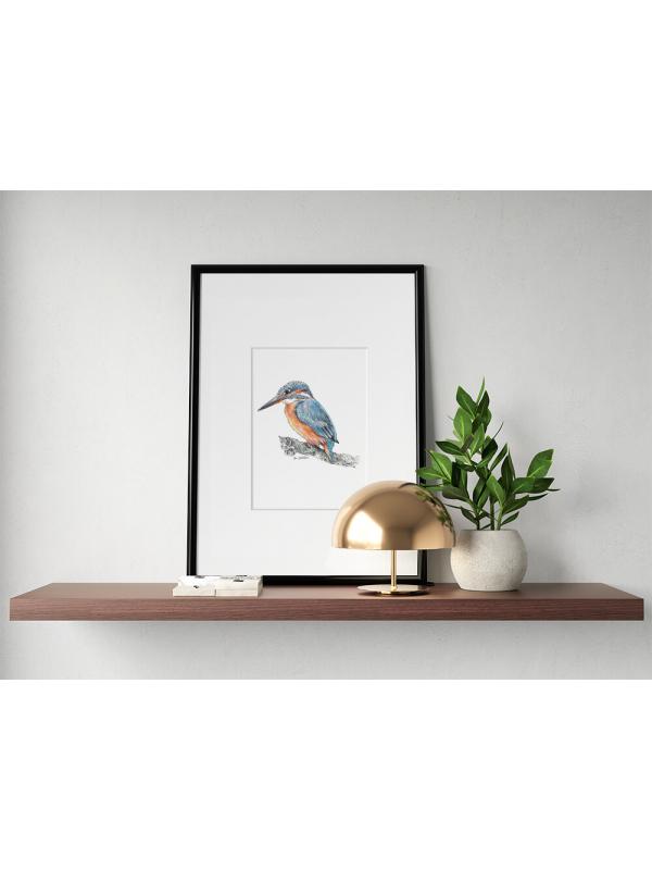 Kingfisher #1 – original artwork by Aga Grandowicz