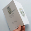 Greeting card, A5 folded to A6, with wildlife illustration of a barn owl (sides)
