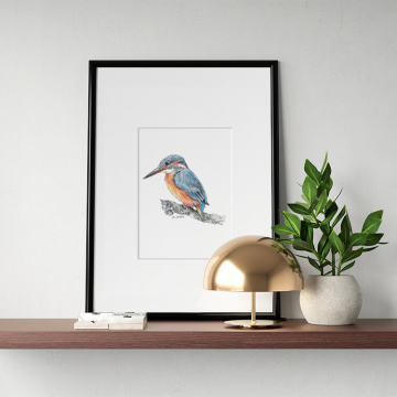 Kingfisher #1 – original artwork by Aga Grandowicz