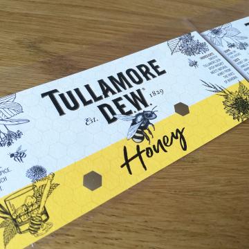 Tullamore D.E.W Honey_label illustration by Aga Grandowicz