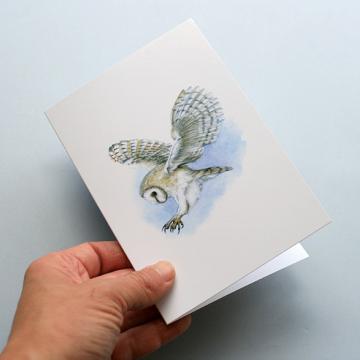 A6 CARD – Barn owl 2