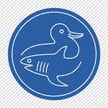 Predesigned animal logo – Duck and Shark