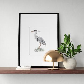 Great blue heron #1 – original artwork