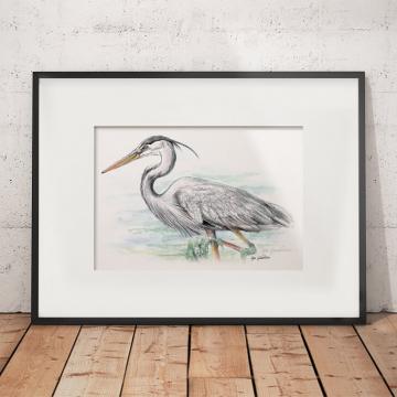 Great blue heron #2 – original artwork