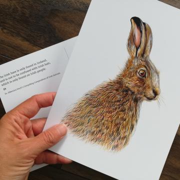 A5 CARD – Irish hare.