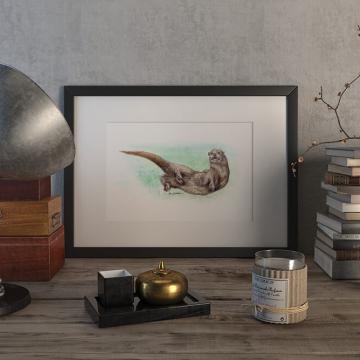 Eurasian otter – original artwork