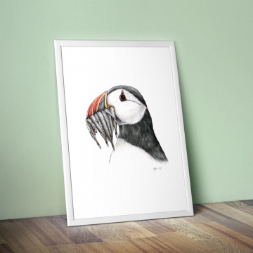 Puffin, #2 – original artwork