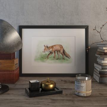 Red fox – original artwork